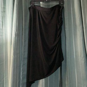Lane Bryant rouched asymmetrical side skirt